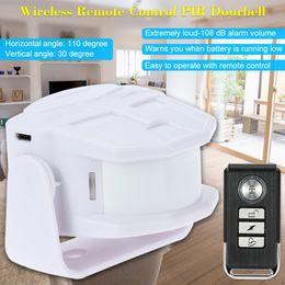 Wholesale Pir Sensor Time - 433.92MHz PIR Motion Sensor Burglar Home Security Alarm Super Loud 108dB loud Welcome doorbell Anti-theft chime panic long standby time
