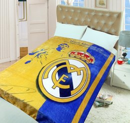 Wholesale Popular Soccer - new arrival Soccer team blankets,Famous and popular Football team comfortable flannel blanket,football fans blanket bed sheets 150 * 200CM