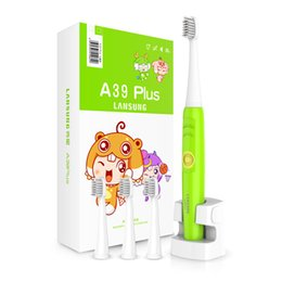Wholesale Ultrasonic Sonic - LANSUNG A39 Plus Electric Toothbrush Rechargeable Sonicare Ultrasonic Rotating Toothbrush Waterproof Sonic Tooth Brush For Children 1202002