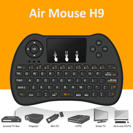 Wholesale Wireless Usb Tv - Air mouse Remote control H9 mini Wireless Game Handle Touchpad Keyboard and Mouse for Android Projector All-in-one PC Smart TV Boxes