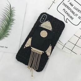 Wholesale Rocket Shells - Phone Case for iPhoneX 8 8plus 7 6 6S 7plusCreative fashion rocket tassel plush shell