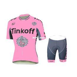 Wholesale Saxo Bank Tinkoff Bib Shorts - Tour De France 2016 Tinkoff Saxo Bank Pink cycling jerseys bike wear bib shorts padded Women Female cycling jersey set XS-2XL