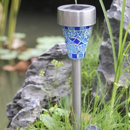 Wholesale Red Garden Stones - Mosaic glass, lawn lamp, solar garden lamp, LED decorative lamp, waterproof outdoor garden lamp
