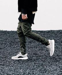 Wholesale S Beam - Wholesale-New Arrival men Fashion Pants Rubber elastic bottom Side zipper casual pants Overalls Beam foot trousers irregular pants