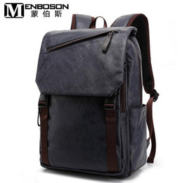 Wholesale Backpack England Brand - factory direct selling brand new men's backpack backpack brand of leisure wear simple and comfortable wind leather backpack of men students
