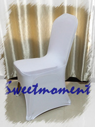 Wholesale Lycra Spandex Order - Sample order Good Quality Spandex Chair cover white Color Common size Lycra Chair Cover for Wedding free shipping to Russia