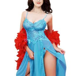 Wholesale Wholesale Plus Size Evening Gowns - Wholesale- Plus size Women Pajamas Lingerie Nightgown Evening Gown Sleepwear Underwear