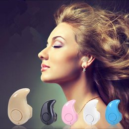 Wholesale Super Small Bluetooth Headset - S530 super mini wireless earphone stereo bluetooth Headphone headset smallest In ear V4.0 Stealth Earbud for cell phone in retail Package
