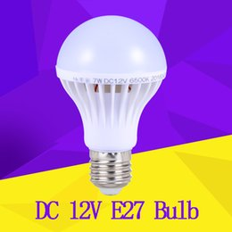 Wholesale Smd E27 12v - E27 LED Bulb for Solar Systerm DC 12V Led Lamp Lamparas E27 12 volt Bulb 3W 5W 7W 9W 12W Enery Saving lampada