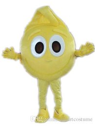 Wholesale Vision Costume - SX0725 Good vision and good Ventilation a yellow mango mascot costume with big eyes for adult to wear