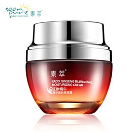 Wholesale Ginseng Cream - SOON PURE Red Ginseng Snail Cream Face Black Head Acne Treatment Ageless Moisturizing Skin Care Whitening Anti Winkles Beauty