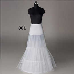Wholesale Bridal Crinoline Color - Cheap Mermaid Petticoat For Wedding Dress Bridal Underskirt Wedding Crinoline For Dress White Color Any Size