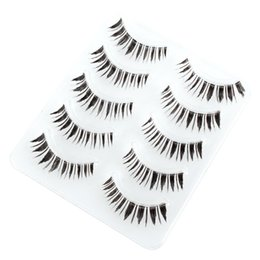 Wholesale Half Lashes - Wholesale-Premium False Eyelashes Crisscross Short Long Thick Half Corner Handmade Eye Lashes 5 Pairs