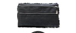 rabbit clutch bag UK - 30pcs 2017 European and American Clutch Bags High quanlity Women Black Rabbit far & alligator print Fashion Shoulder bags