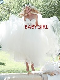 Wholesale Sweetheart Tulle Wedding Dress Ballgown - Custom made tulle ballgown skirt romantic sweetheart neckline lace bodice sweep train A Line Wedding Dresses