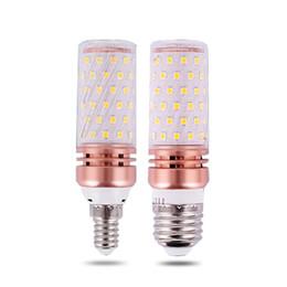 taches blanches en plastique Promotion SMD2835 E14 / E27 LED Lampe D'ampoules De Maïs 8W 12W 16W Abat-jour Transparent Blanc De Noël Trois Couleurs Led Ampoule Led