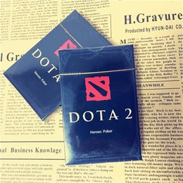 Wholesale Game Card Online - Dota2 Heros Poker Online Battle Game Toy Defense of the Ancients2 Characters Playing Cards Collection Set 2017 New