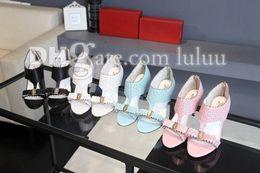Wholesale High Heels New Fashion Shoes - 2016 New Summer Women Sandals high heeled shoes sandal Slide sandals thick heels platform Flower Flip-flop Woman Fashion Party Flats shoes