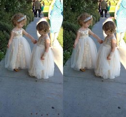 Wholesale Spaghetti Strap Feather Dress - 2017 Lovely Sequins Flowers Girls Dresses A Line Floor Length Spaghetti Straps Birthday Party For little Girls