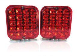 "Wholesale Led Turn Signal Lights Kit - 2X4.5"" 12V LED Trailer Tail Light Kit Brake Turn Signal Utility Rv's Boat Truck free shipping yy123"