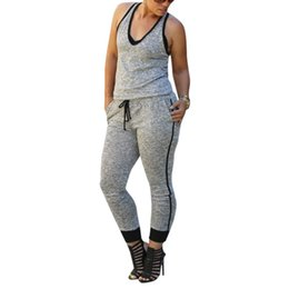 Wholesale Women Jumpsuit Sport - Wholesale-Top Selling For Women Bandage Bodycon Jumpsuit Sexy Long Playsuit Rompers Sport Pants Clubwear