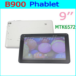 Wholesale Dual Cam Tablet - MTK6572 B900 Tablet PC Dual Core 2G WIIF Bluetooth Android Phablet 512MB+4GB Dual Cam Multi-touch GPS Unlocked Phone Tablet 5pcs Free DHL