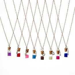 Wholesale Glass Jewlery - Fashion Jewlery Quick Sand Wishing Drift Bottle Messenger Current Bottle Star Glass Necklaces Necklace for women locket jewelry gift 161542
