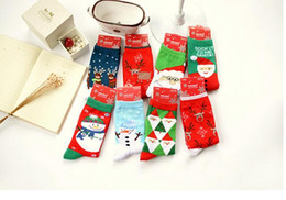 Wholesale Hosiery For Black Women - Factory DHl price Snowman Christmas Father Santa Clause warm Socks Christmas Socks for women Cartoon tube Birthdays gifts milu deer Hosiery