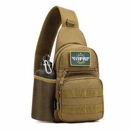 Wholesale Outdoor Back Packs - Men Waterproof Oxford Shoulder Messenger Crossbody Bag Military Tactics Outdoors Chest Pack With Bottle Bag Male Back Pack