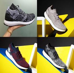 Wholesale Handmade Flat Shoes - 100% Original Handmade MEN'S RUNNING PURE BOOST ZG Sneakers NMD Runner Primeknit Hypebeast x Ultra Boost Uncaged Womens Running Shoes 36-45