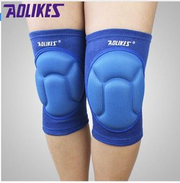 Wholesale Dance Support - pair AOLIKES sponge knee pads for dancing basketball volleyball rodilleras sliders patella guard protetor support kneepad