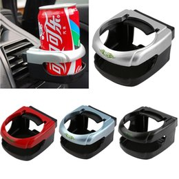 Wholesale Air Conditioning Vent Accessories - HS Clip-on Auto Car Truck Vehicle Air Condition Vent Outlet Can Drinking Water Bottle Coffee Cup Mount Stand Holder Accessories