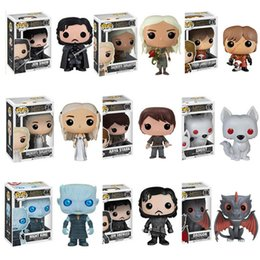 Wholesale Role Games - POP Game of Thrones Action Figures with 9 Roles Night King Jon Snow Daenerys Targaryen Action Figure Collectors Set Collectible Figure