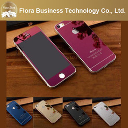 Wholesale New Aluminum Metal Hard Case - New Ultra Slim Colorful Aluminum Bumper With Hard Mirror Tempered Glass Back Case for iPhone 5 5s 6 6s 6 plus 5.5