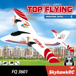 Wholesale Rc Sky Ship - Top flying FQ 3601 glider Sky King EPO Airplane Push-speed glider Fixed Wing Plane RTF RC toys free shipping
