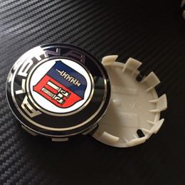 Wholesale Alpina Wheels - 200pcs 68mm Blue black White alpina    M hartge 10 pin Car Wheel Center Hub caps Rim Cap auto cover Emblem Badge for 1 3 5 7 M3 M5 X1 X3 X5