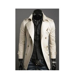 Wholesale Grow Cotton - 2016 autumn new Comfortable Fashion Paragraph dust coat grows in autumn and winter with men Double-breasted coat
