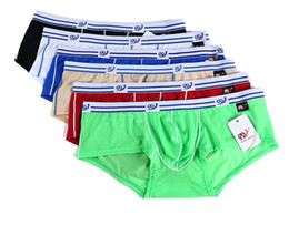 Wholesale Cheap Sexy Male Underwear - Sexy Mens Underwear Ice Silk Boxer Shorts Super Cool Low-Waist Hot Sell Mens Fashion Breathable Slip Homme Cheap Male Underwear