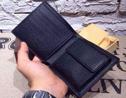 Wholesale Man Passport Wallet - classic luxury card wallet with box casual short designer card holder holder pocket fashion wallets men coin wallet