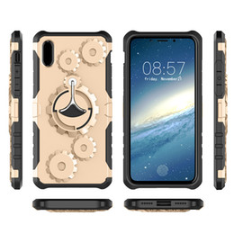 Wholesale Band Phone Covers - Gear Armor Kickstand Phone case For Apple iphone x 8 7 6 6s plus Samsung Galaxy Note 8 TPU Plastic Back Cover with Phone Arm Band OPP Bag