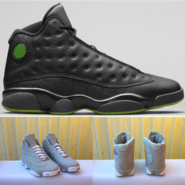 Wholesale Fiber Sports - 2018 men 13 basketball shoes Altitude Black Green Grey Air 13s XIII Carbon Fiber Sports designer Trainers running shoes us 8-13