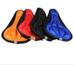 Wholesale New Fashion Road Bikes - 4pcs lot New Fashion Cycling Seat Mat Comfortable Cushion Soft Seat Cover Saddle of Bicycle Parts For Bike free shipping