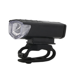 Wholesale Front Bike Light Usb - USB Rechargeable Bike Head   Front White Light Lamp Black Bicycle Cycling new arrival free shipping