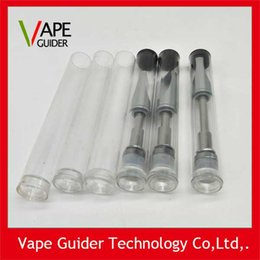 Wholesale Empty Cigarette Tubes - Open Vape Cartridge Electronic Cigarettes Plastic Containers Tube Clear Packaging Empty vape cartomizer packing