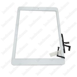 Wholesale Ipad Adhesive Black - 10PCS Touch Screen Glass Panel Digitizer with Buttons Adhesive Assembly for iPad Air Black and White