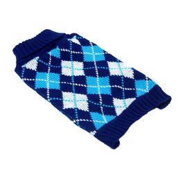 Wholesale Cat Sweater Xl - Wholesale-Pet Dog Cat Lattice Knitwear Coat Jacket Puppy Sweater Clothes XS-XL 2 Color