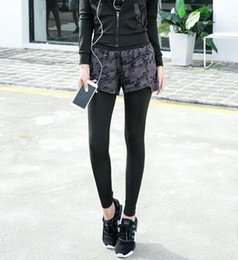 Wholesale Running Jumping - Women Sporty Two-Piece Sports Pants High Waist Elastic Jump Pants Running Casual Skinny Tights Fashion Trousers Ladies Breathable Long Pant
