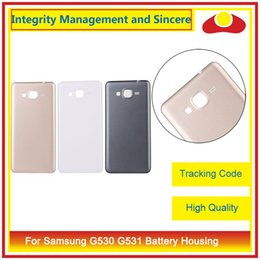 Wholesale Back Cover Grand - High Quality For Samsung Galaxy Grand Prime G530 G530H and G531 Housing Back Cover Housing Battery Cover Door Rear Cover Chassis