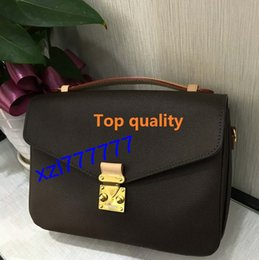 Wholesale Genuine Leather Handbag Free Shipping - Free shipping high quality genuine leather women's handbag pochette Metis shoulder bags crossbody bags M40780