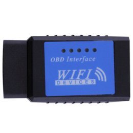 Wholesale Elm327 Wifi Wireless Obd2 Interface - New mini ELM327 WiFi OBD2 Diagnostic tool code reader Wireless OBDII elm 327 Scanner Interface scan tool For android For iPhone